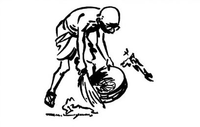 மலம் அள்ளும் துப்புறவுப் பணி குறித்து காந்தியடிகள்